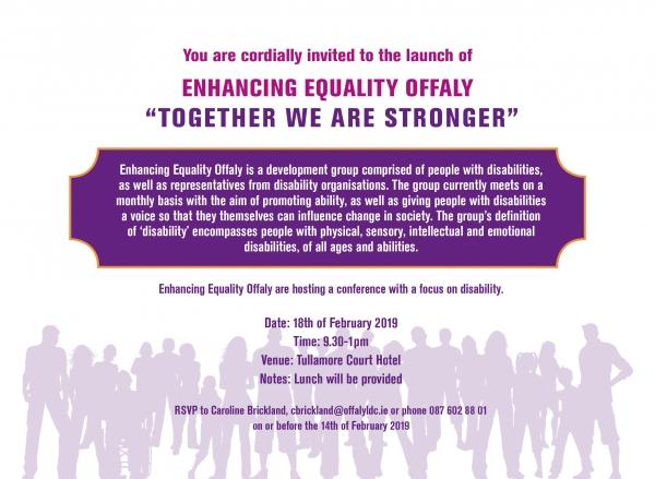 """Enhancing Equality Offaly """"Together We Are Stronger"""""""